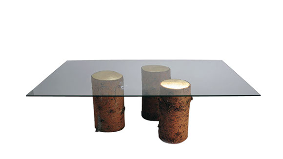 Table Basse – Rondins D'Or
