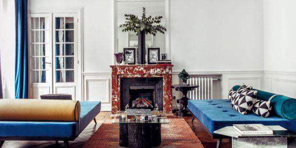 Appartement parisien de l'actrice Hilary Swank