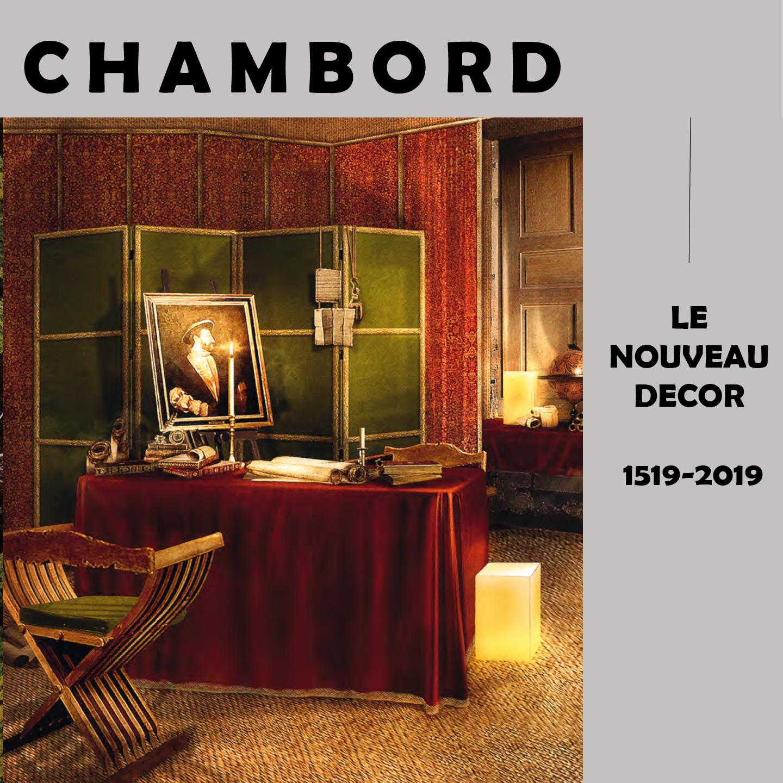 Dossier de presse ployant chaise traditionnelle henryot & cie chateau de chambord jacques garcia