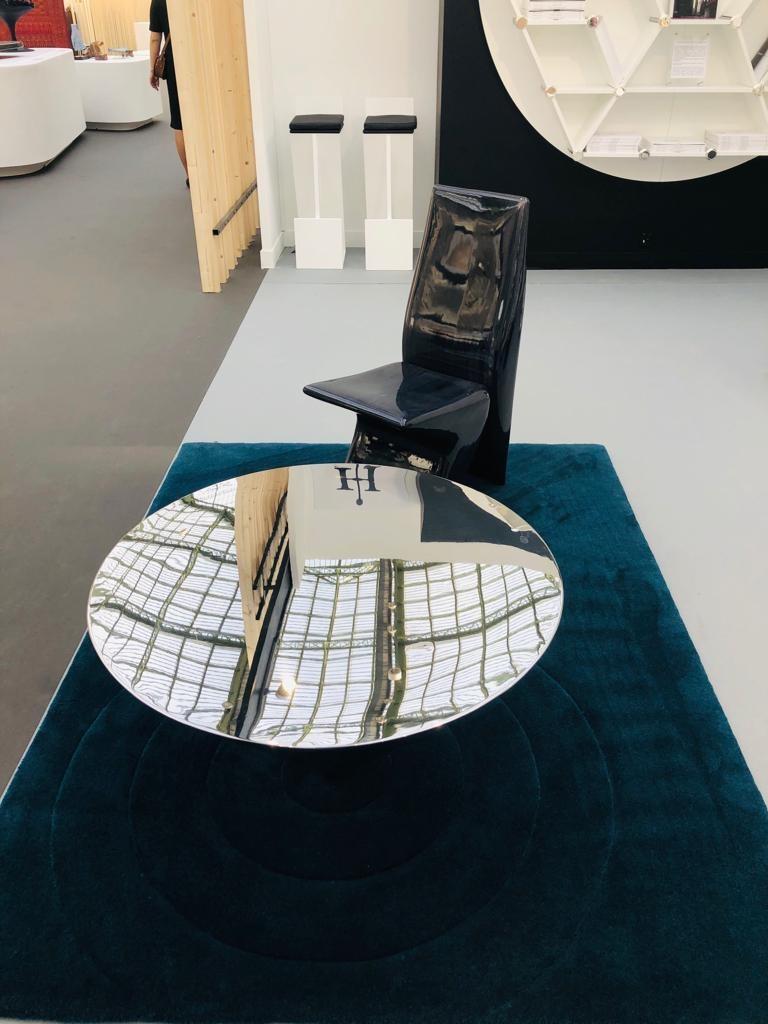 Table î-cone chauffeuse moebius design inox poli henryot & cie marty