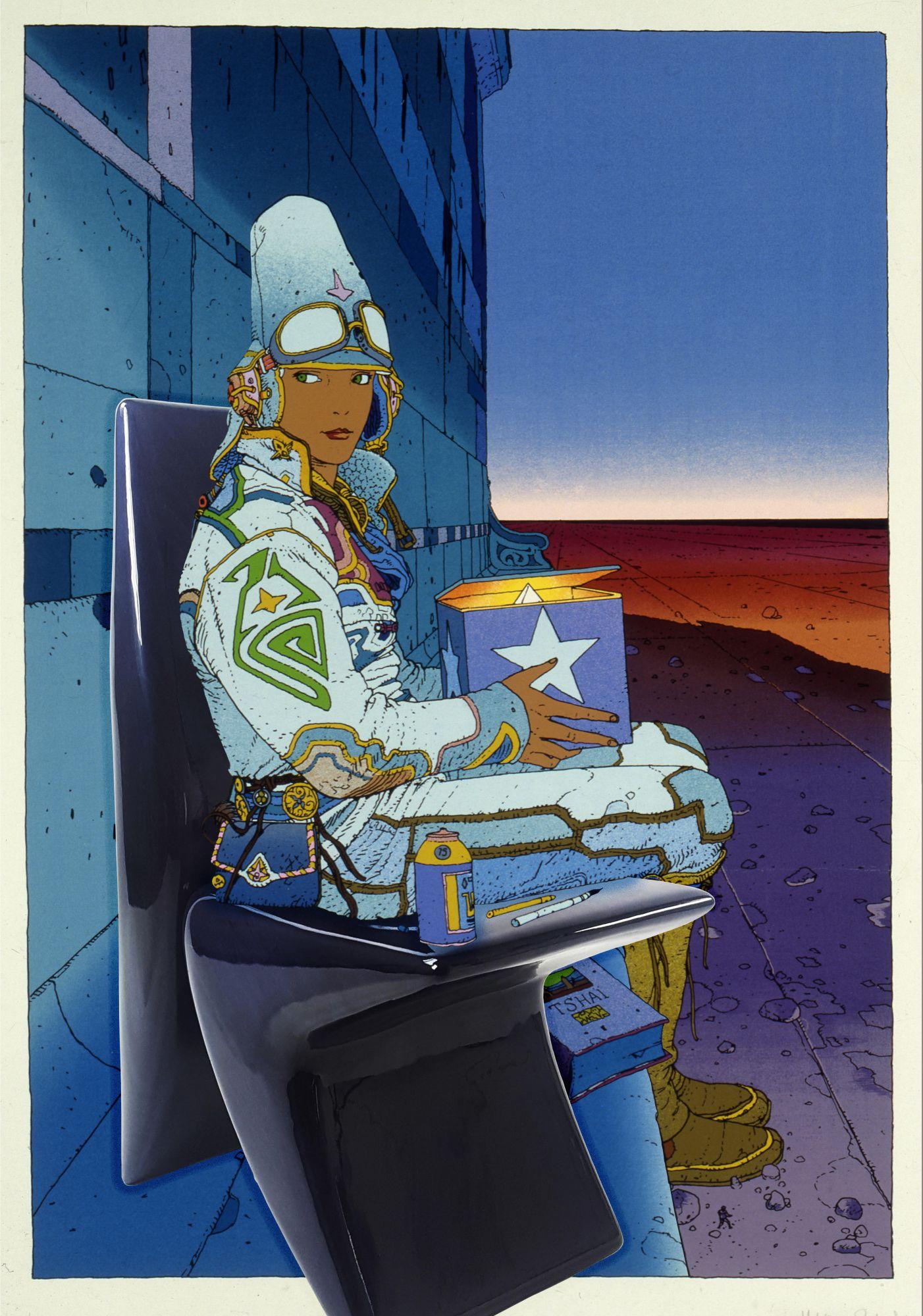 au-bord-du-monde-starwat002-henryot-cie-chauffeuse chaise futur laque noir designer marty