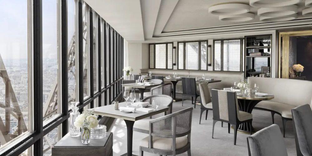 Restaurant tout eiffel jules verne henryot & cie design chef français frederic anton
