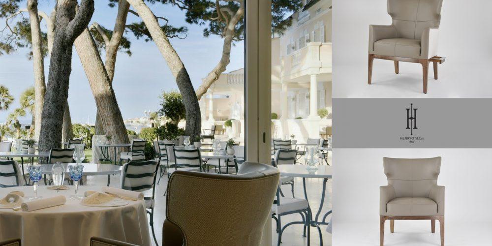 Hotel spa luxe Henryot & cie cheval blanc saint tropez chaises fauteuils restaurant